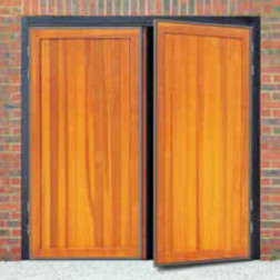 Futura Berkeley Vertical Timber Side Hinged Garage Door