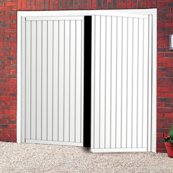 Special Offer - GDS Vertical Steel Side Hinged Garage Door
