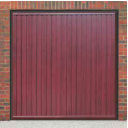 Cardale Gemini II Up & Over Rosewood Garage Door (Woodgrain)