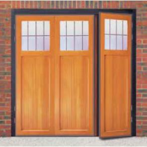 Futura Ibstock Timber Side Hinged Garage Door