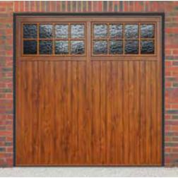 Cardale Bedford Up & Over Golden Oak/Rosewood Garage Door (Woodgrain)