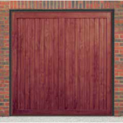 Cardale Berkeley Vertical Up & Over Rosewood Garage Door (Woodgrain)