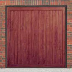 Cardale Berkeley Vertical Up & Over Rosewood Garage Door (Woodgrain)