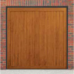 Cardale Berkeley Vertical Up & Over Golden Oak Garage Door (Woodgrain)