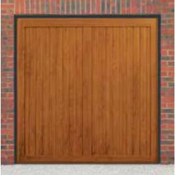 Cardale Berkeley Vertical Up & Over Golden Oak Garage Door (Woodgrain)