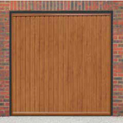 Cardale Gemini II Up & Over Golden Oak Garage Door (Woodgrain)