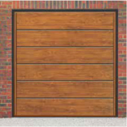 Cardale Haven Up & Over Golden Oak Garage Door (Woodgrain)