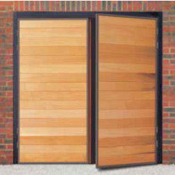 Futura Horizontal Wide Timber Side Hinged Garage Door