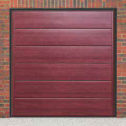 Cardale Haven Up & Over Rosewood Garage Door (Woodgrain)