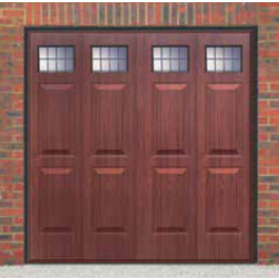 Cardale Sheraton II Glazed Up & Over Rosewood Garage Door