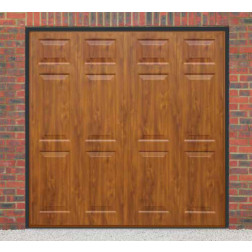 Cardale Sheraton II Up & Over Golden Oak Garage Door (Woodgrain)
