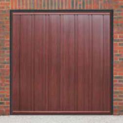 Cardale Vogue Up & Over Rosewood Garage Door (Woodgrain)