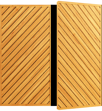 Cardale Futura Chevron Timber Side Hinged Garage Door