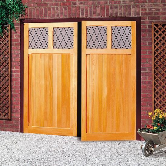 Cardale Futura Garage Light Timber Side Hinged Garage Door