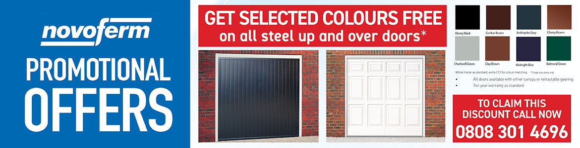 Get Selected Free Colours On Steel Up and Over Garage Doors